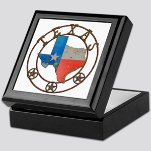 Texas Wrought Iron Barn Art Keepsake Box