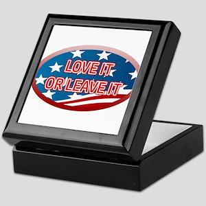 LOVE IT OR LEAVE IT! AMERICAN FLAG Keepsake Box