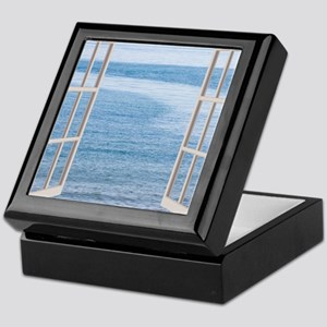 Ocean Scene Window Keepsake Box
