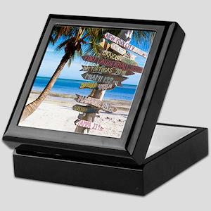 KeyWestSign7100 Keepsake Box