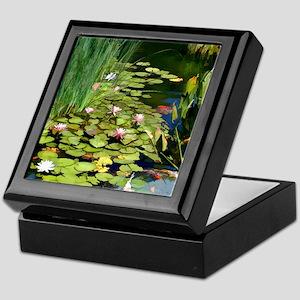 Koi Pond and Water Lilies copy Keepsake Box