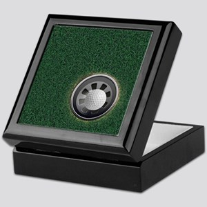 Golf Cup and Ball Keepsake Box