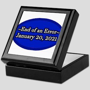 End of an Error January 20 2021 Trump Keepsake Box
