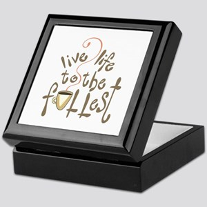 LIVE LIFE TO THE FULLEST Keepsake Box