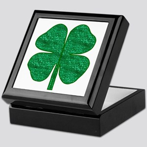 glitter shamrock Keepsake Box