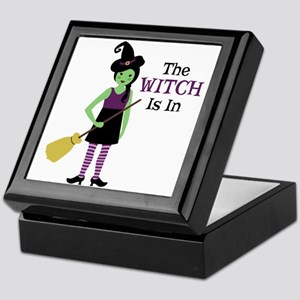 The Witch Is In Keepsake Box
