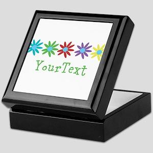 Personalize Flowers Keepsake Box