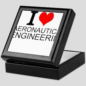 I Love Aeronautical Engineering Keepsake Box
