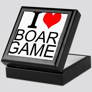 I Love Board Games Keepsake Box