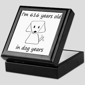 88 dog years 6 - 2 Keepsake Box