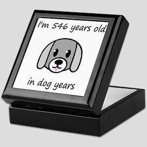78 dog years 2 - 2 Keepsake Box