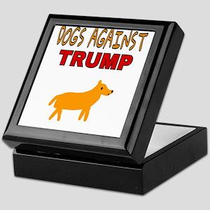 DOGS AGAINST TRUMP Keepsake Box