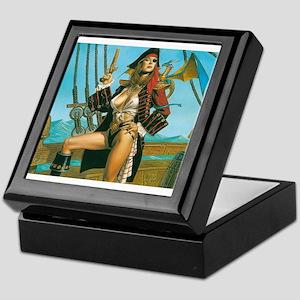 pin-up pirate Keepsake Box