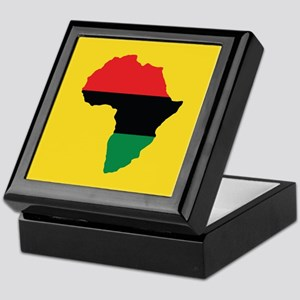 Red, Black and Green Africa Flag Keepsake Box