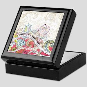 Abstract Floral Keepsake Box