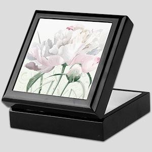 Beautiful Peony Keepsake Box