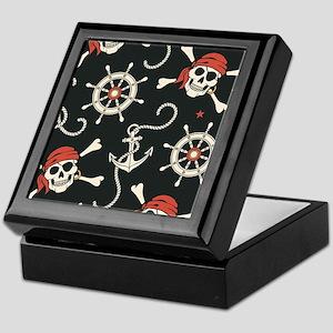 Pirate Skulls Keepsake Box