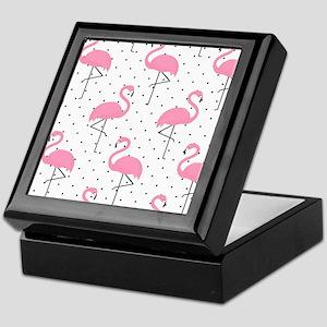 Cute Flamingo Keepsake Box
