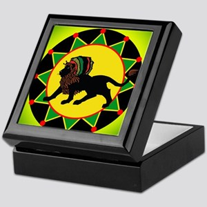 Jah King Rasta Lion Keepsake Box