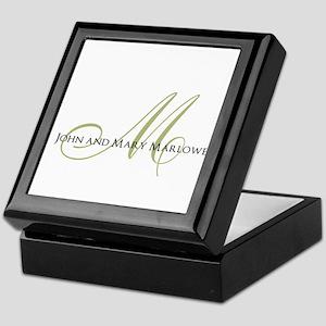 Names and Monogrammed Initial Keepsake Box