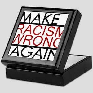 make racism wrong again black lives m Keepsake Box
