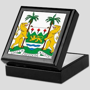 Sierra Leone Coat Of Arms Keepsake Box