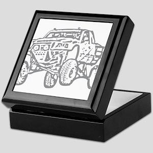 Off-Road Race Truck Grey Keepsake Box