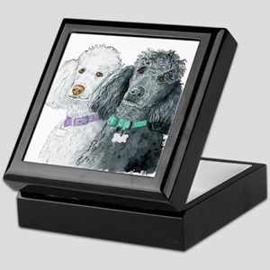 Two Poodles Keepsake Box