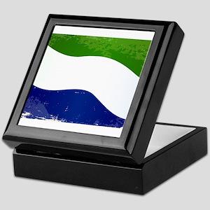 Sierra Leone Flag Grunge Keepsake Box