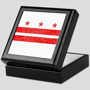 Washington DC State Flag Keepsake Box