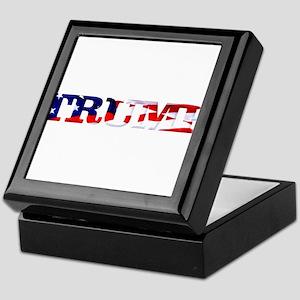 Trump - American Flag Keepsake Box