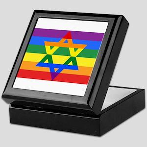 Rainbow Star of David Keepsake Box