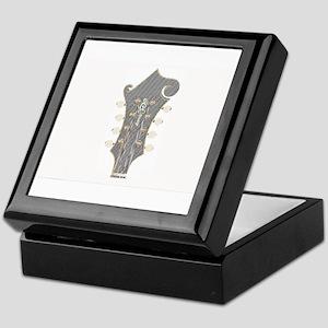 Plaid Mandolin Headstock Keepsake Box