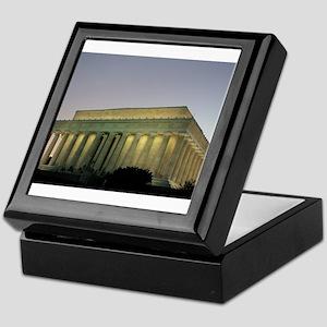 Lincoln Memorial at night Keepsake Box