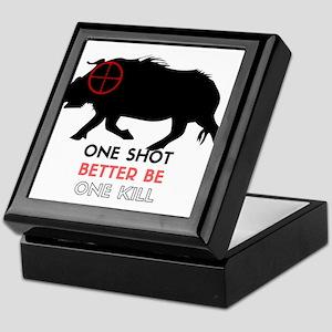 One Shot One Kill Wild Boar Hog Keepsake Box