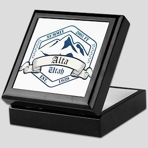 Alta Ski Resort Utah Keepsake Box