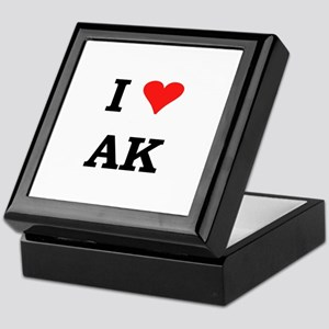 I Heart Alaska Keepsake Box