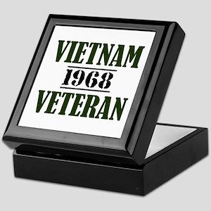 VIETNAM VETERAN 68 Keepsake Box