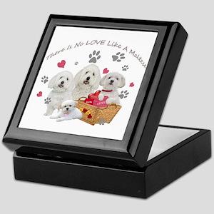No Love Like A Maltese Keepsake Box