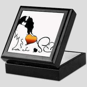 Silhouette Japanese Chin Keepsake Box