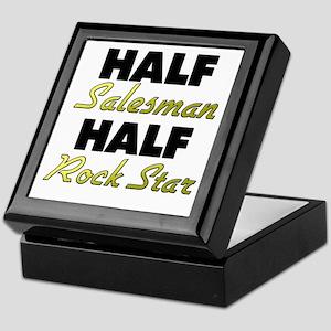 Half Salesman Half Rock Star Keepsake Box