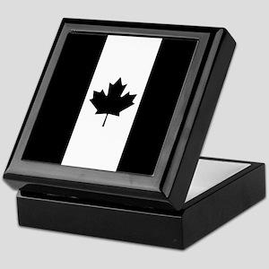 Canada: Black Military Flag Keepsake Box