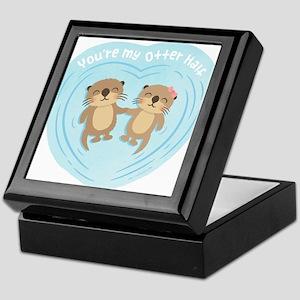 You are my otter half love pun humor Keepsake Box