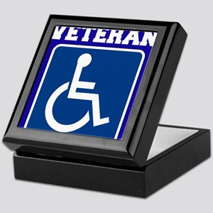 Disabled Handicapped Veteran Keepsake Box