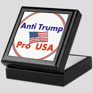 Anti Trump, Pro USA Keepsake Box
