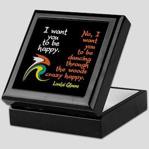 Lorelai's Happiness Quote Keepsake Box