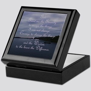 waterscape at dusk_serenity prayer Keepsake Box