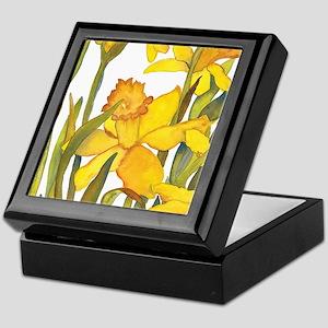 Daffodil detail Keepsake Box