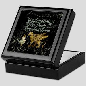 Alice Gryphon Explanations Keepsake Box