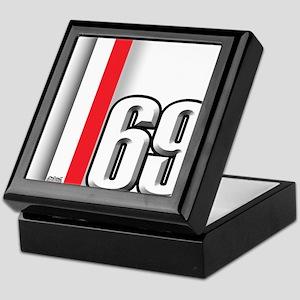 69 Red Whirte Keepsake Box